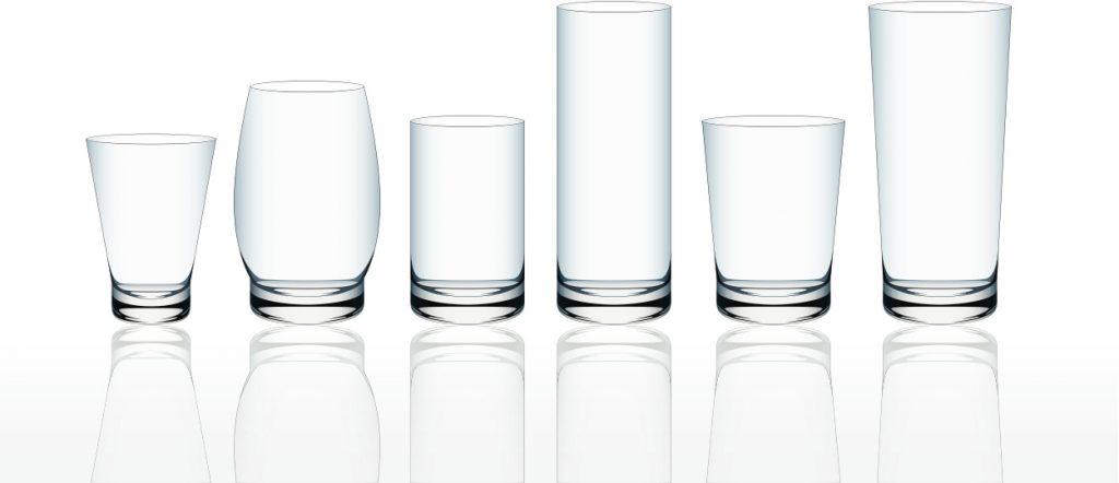 サイズ違いのグラス